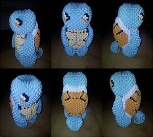 3d Origami Squirtle  Pokemon  By Unsjn Deviantart Com