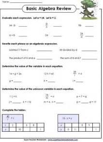 Algebra Beginner Worksheets Algebra Worksheets