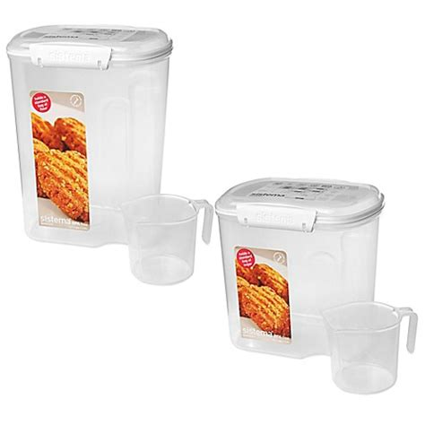 canisters for the kitchen sistema sugar flour container bed bath beyond