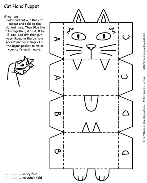 give  octopus  paintbrush   printable cat hand