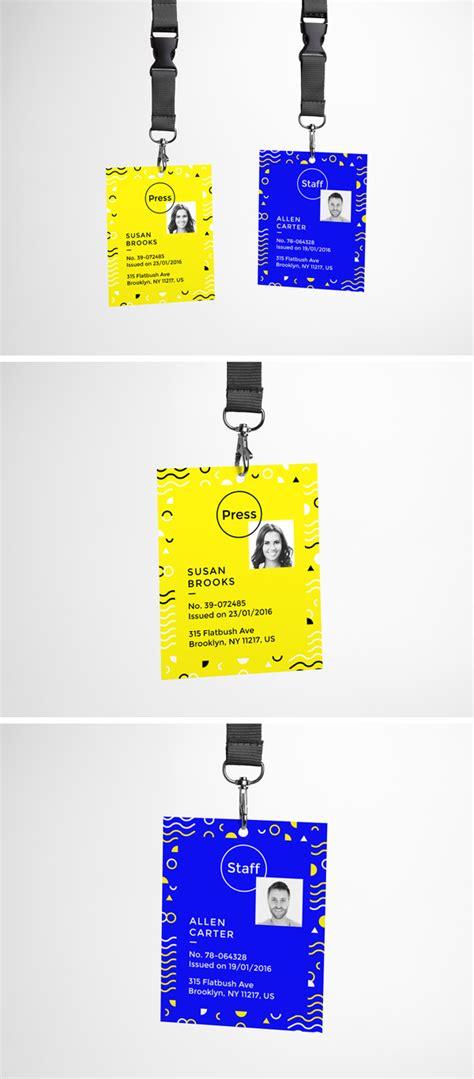 id card template psd    template
