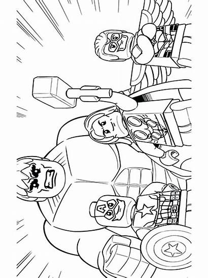 Avengers Lego Coloring Pages Marvel Printable Boys