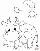 Cow Coloring Pages Cartoon Printable Cows Drawing Colorear Para Animals Crafts Preschool Longhorn Cattle Alphabet Printables Cartoons Bible Letter Supercoloring sketch template