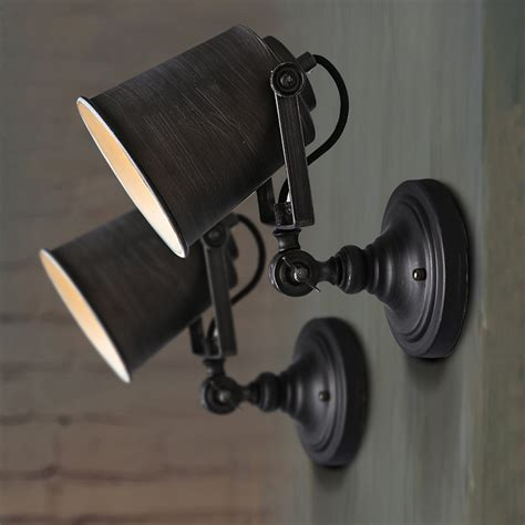vintage industrial wall lights add security to your