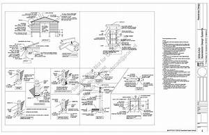 Free sample Pole barn shed plan download #g398 12' x 36