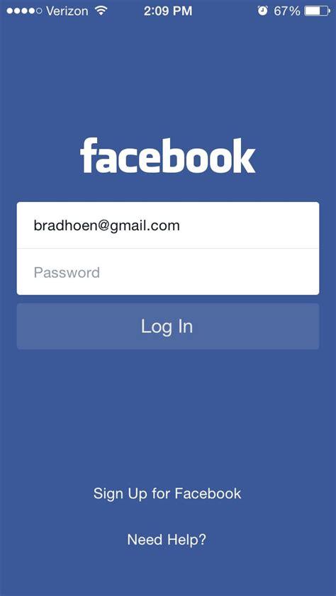 Facebook login screen | App login, App development ...