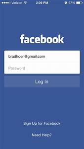 Designs App Online Facebook Login Screen App Login Onboarding App