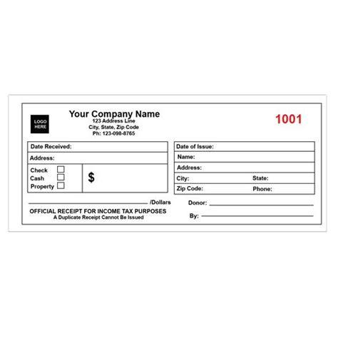 personalized cash receipt books personalized receipts