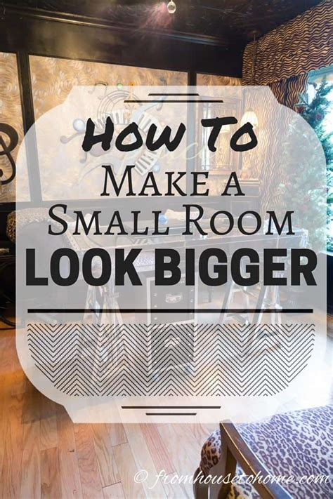 Decorating Ideas To Make A Room Look Bigger by How To Make A Small Room Look Bigger 11 Small Space