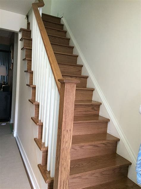 white stringers  white spindles north york renew stairs