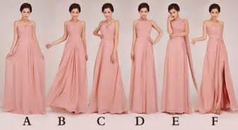 blush chiffon bridesmaid dresses 2015 cheap chiffon blush pink bridesmaid dresses prom to wedding dress 50