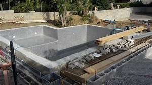 construire piscine beton travaux piscine en kit semi With construire une piscine en beton soi meme