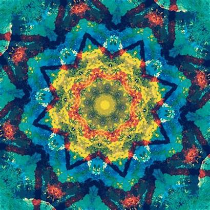 Animated Paint God Rainbow Gifs Pattern Mandala