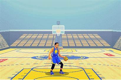 Curry Stephen Pixel Animation Golden State Warriors
