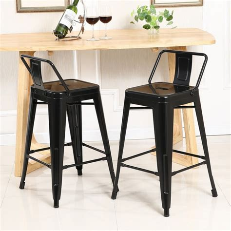 desk stool with back 4 pc bar stool height with low back onebigoutlet within