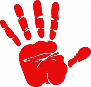 Red Hand Print Clip Art at Clker.com - vector clip art ...
