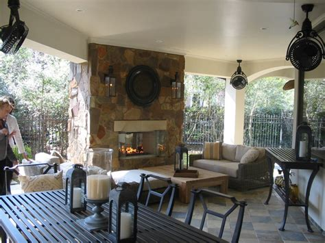 covered patio fireplace traditional patio houston