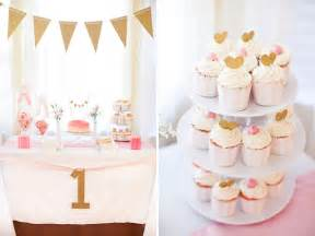 pink gold first birthday party little peanut magazine