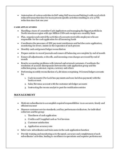 Ar Resume by Jeevan Ar Manager Resume