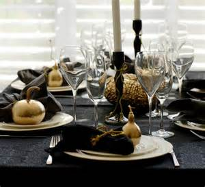 Black and Gold Table Centerpieces