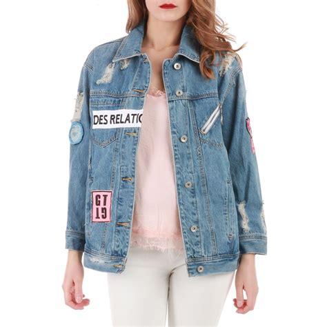 veste en jean troué veste en jean femme oversize vestes 224 la mode 2018