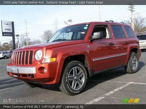 orange jeep patriot sunburst orange pearl 2009 jeep patriot limited 4x4