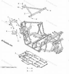 Polaris Side By Side 2008 Oem Parts Diagram For Chassis