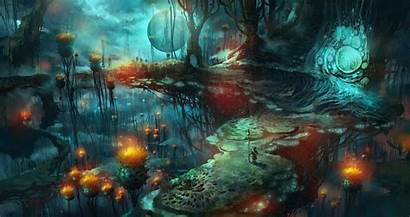 Mushroom Fantasy Magic Mushrooms Artwork Wallpapers Sfondi