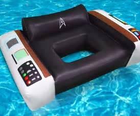 star trek captain s chair pool float