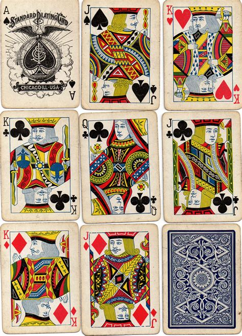 Printed by the united states playing card company on o Standard Playing Card Co. - The World of Playing Cards