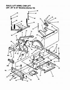 Rails  Lift Arms  Cam Lift Diagram  U0026 Parts List For Model