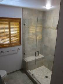 Small Walk-In Shower with Bench