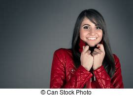 Attractive Young Asian Woman Wearing Leather Jacket