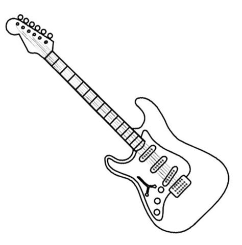 electric guitar coloring page coloring book