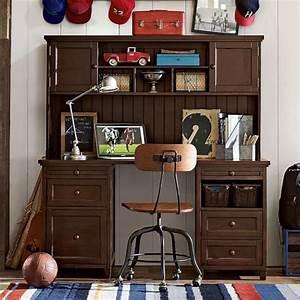 beadboard smart desk hutch pbteen With boys desk and hutch