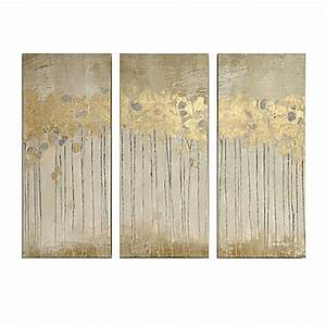 Madison park sandy forest gel coat canvas with gold foil for Best brand of paint for kitchen cabinets with hanging canvas wall art