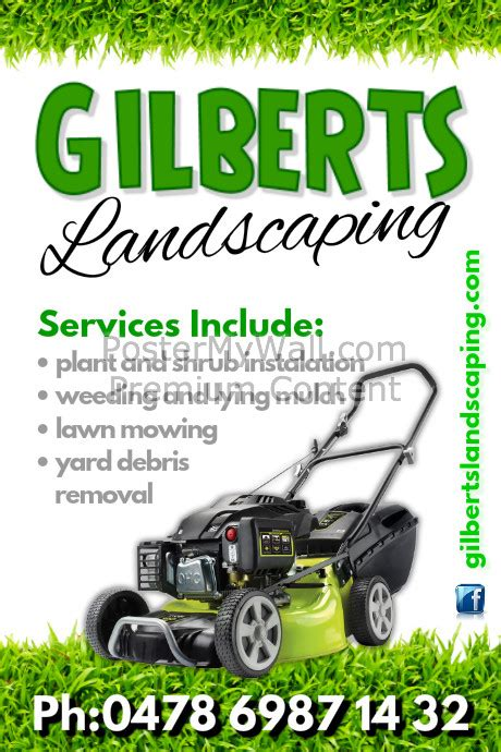 landscaping flyer templates landscaping poster template postermywall