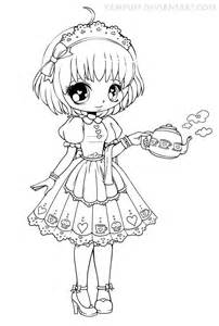 Chibi Coloring Pages YamPuff deviantART