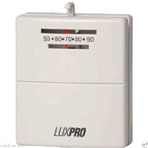 luxpro psm wall thermostat  wire millivolt gas