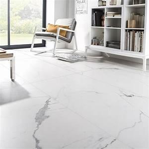 Carrelage Blanc Sol : carrelage sol et mur blanc effet marbre rimini x cm leroy merlin ~ Dode.kayakingforconservation.com Idées de Décoration