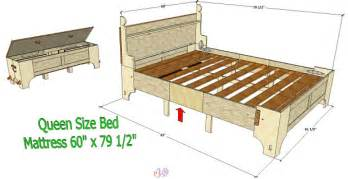 the queen size bed frame plans the queen size bed frame plans 5 pictures to pin on pinterest