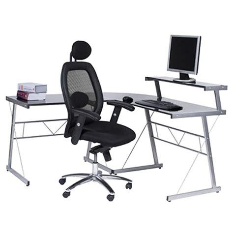 bureau verre angle bureau d 39 angle en verre noir bureau informatique design
