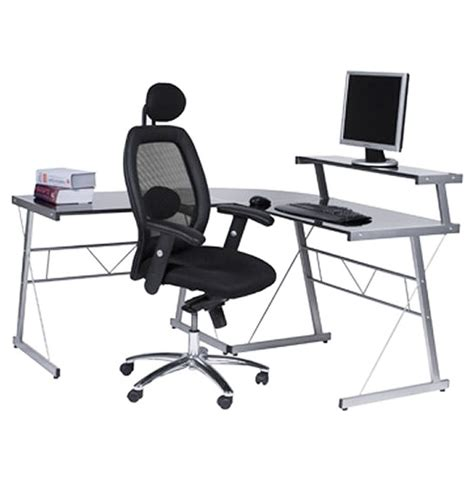 bureau en verre d angle bureau d 39 angle en verre noir bureau informatique design