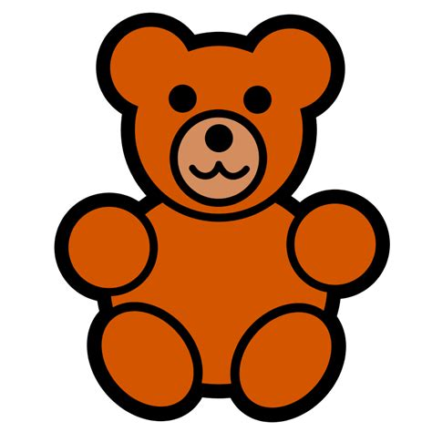 Teddy Clipart Pitr Teddy Icon Free Images At Clker Vector
