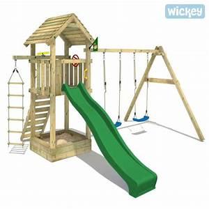 Portique De Jeux : aire de jeux bois wickey captains tower portique achat ~ Melissatoandfro.com Idées de Décoration
