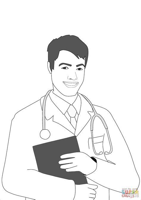 dibujo de hombre medico  colorear dibujos  colorear imprimir gratis