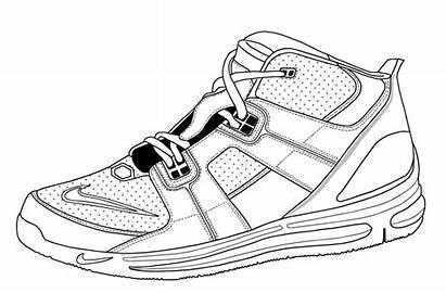 Coloring Jordan Shoe Pages Shoes Nike Clipart