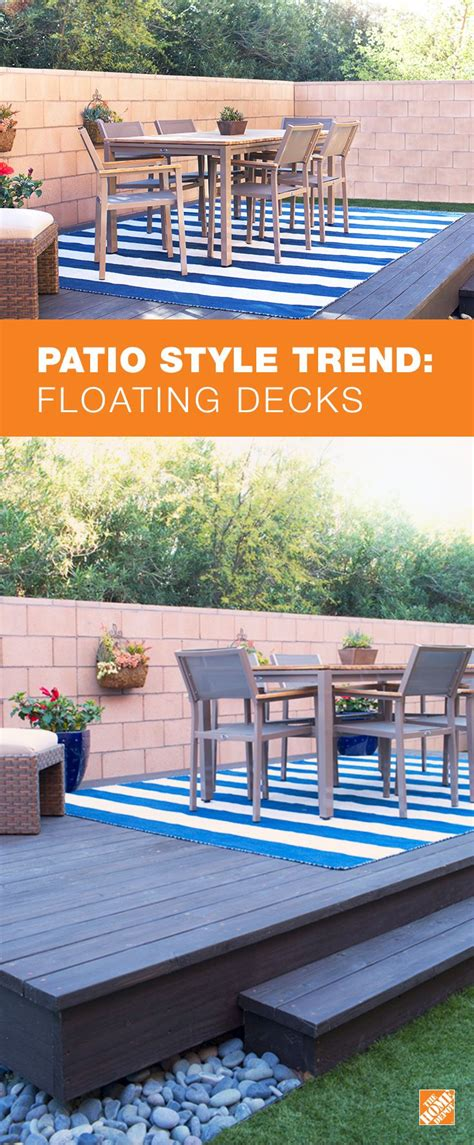 Design Your Own Deck Home Depot by How To Build A Floating Deck The Home Depot Ideas For