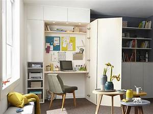 charmant decorer un studio de 30m2 9 le coin bureau With decorer un studio de 30m2