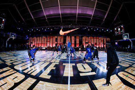 entire led floor built  nyc  nike latest basketball